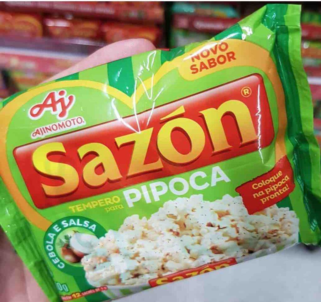 Pipoca com Sazon
